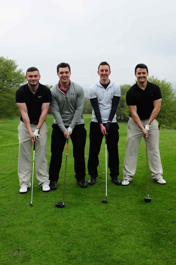 WATCH THE BIRDIE:  The Sport Caerphilly team. From left to right Jon Hughes, Elliot Williams, Sean Davies and Michael Jones