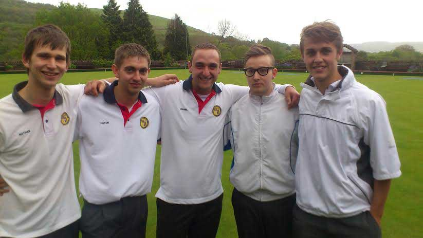 Members of Llanbradach Bowling Club
