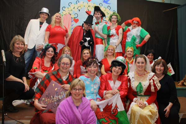 AT THE BALL: The cast and crew of Caerphilly's Cinderella. Caerphilly Children's Centre