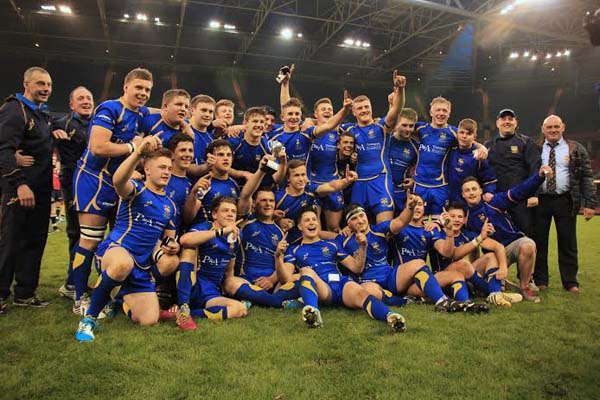 CHAMPIONS: Penallta celebrate winning the WRU Youth Cup. Picture by Tracey Lintern