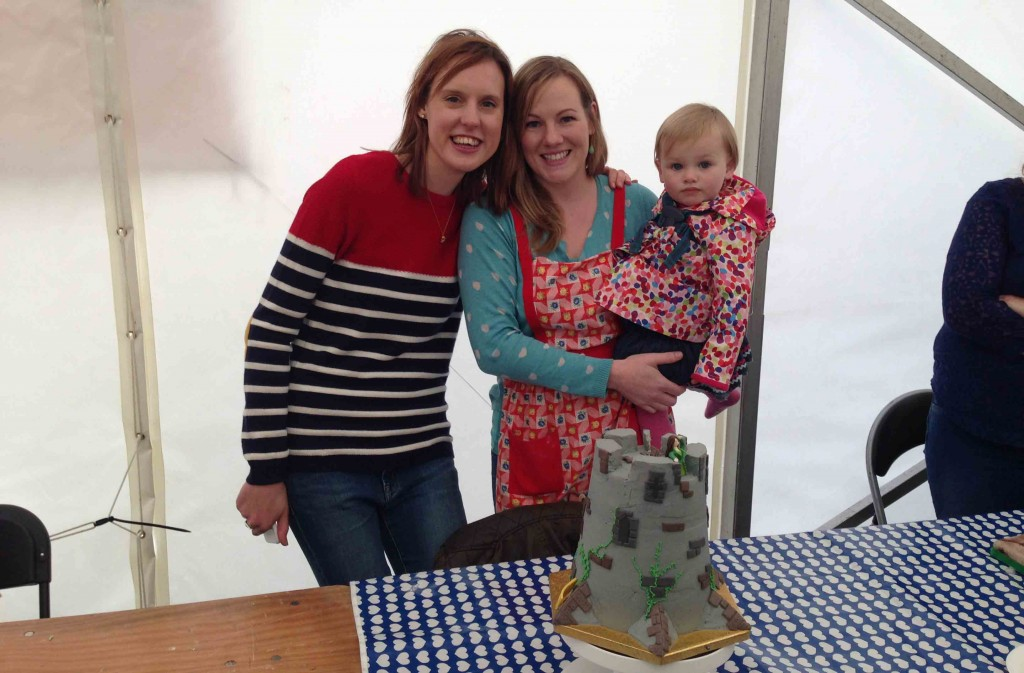Frances Quinn with winner Charlotte Lunn and  daughter Daisy at Caerphilly Food Festival