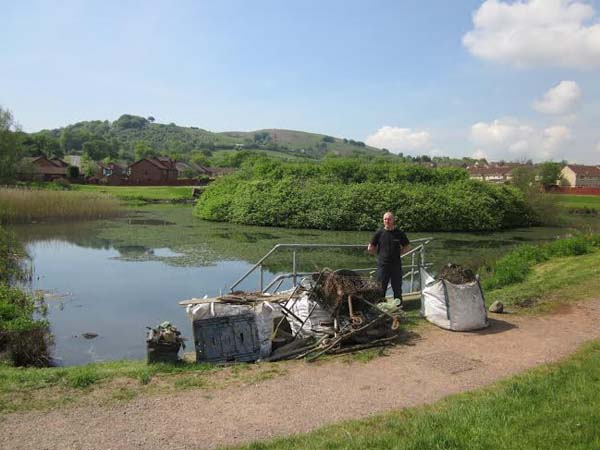 TIPPING CONCERNS: Three tonnes of waste was removed from Castle View Lake