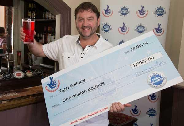 Bedwas lottery winner Nigel Willetts