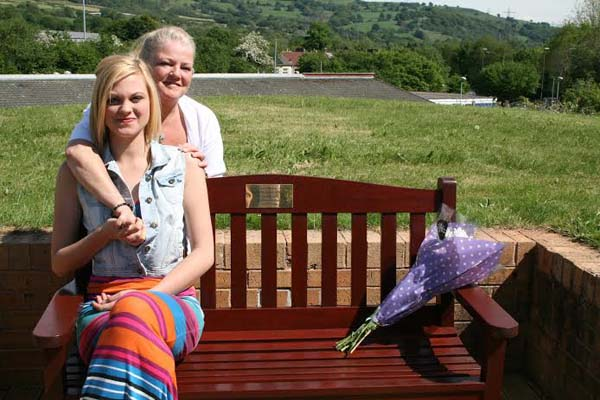 FOREVER YOUNG: Gerwyn's mother, Michelle Flanagan, and lifelong friend, Lauren Dickens