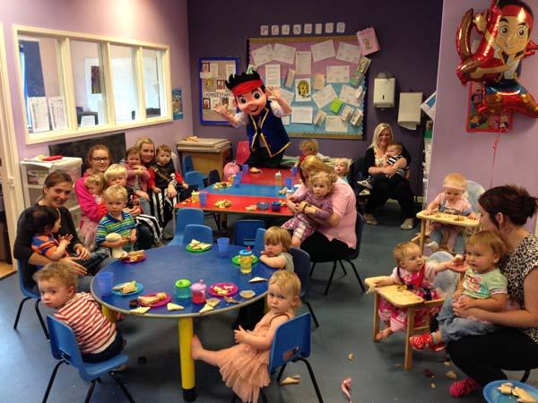Jake the Pirate entertains children at Britannia Day Nursery