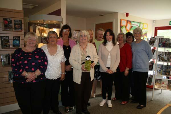 A CARING NATTER: Members of Llanbradach Knit and Natter