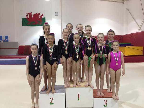 The Valleys Gymnastics Academy's successful team