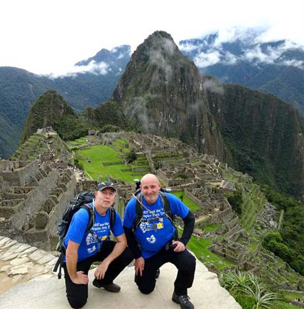 INCA-REDIBLE: Andrew and Jason at Machu Picchu