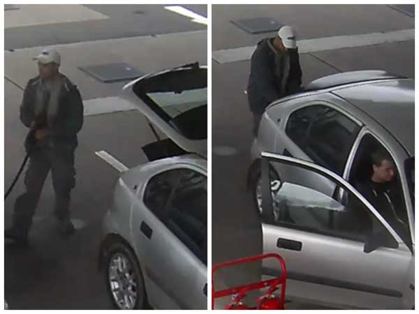 are trying to trace two men after diesel was stolen from Tesco Petrol Station on Pengam Road in Ystrad Mynach