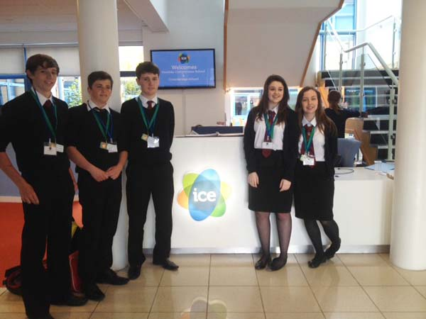 YOUNG ENTREPRENEURS: Members of Hexaphone at Welsh ICE