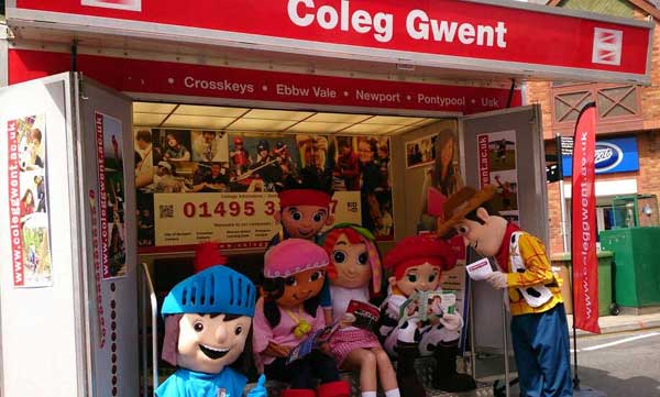 Some well-known cartoon characters were among the visitors to Blackwood on the weekend