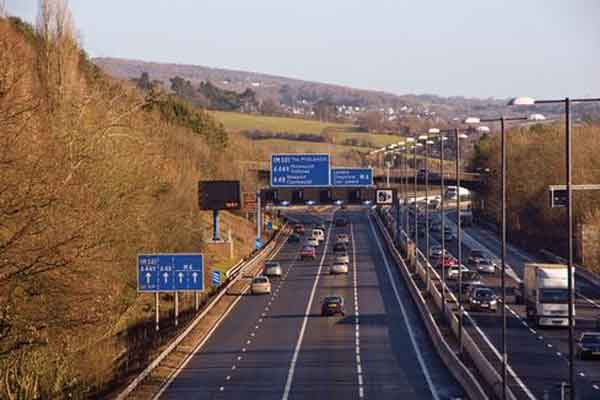 CONGESTED: A new £1bn pound M4 relief road in Newport has been announced