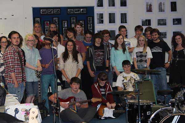 The youngsters who took part in RecRock's summer school