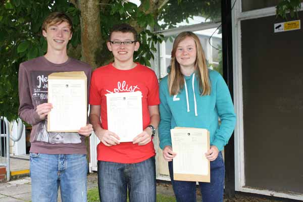 Three of the four highest achievers at Pontllanfraith Comprehensive School