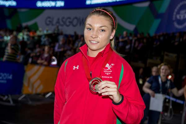 BARGOED BRONZE: Lauren Price with her bronze medal at the Glasgow games