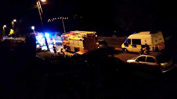 Emergency services attended an arson attack on Abernant Road in Markham