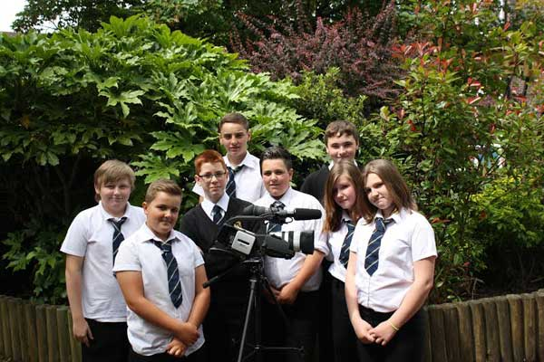ZERO TOLERANCE: Newbridge students produced the anti-bullying film in just six weeks