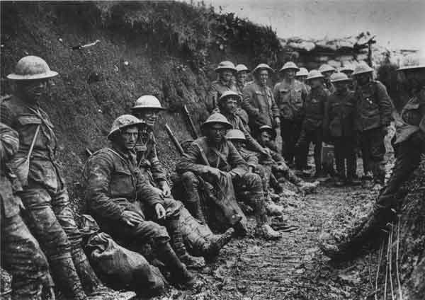 REMEMBERED: Life in the trenches during World War One. Picture from the Imperial War Museum collection