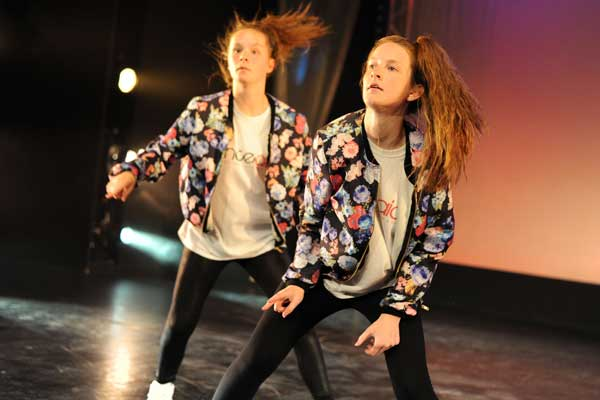 JUST DANCE: Pontllanfraith Comprehensive School pupils show off their moves