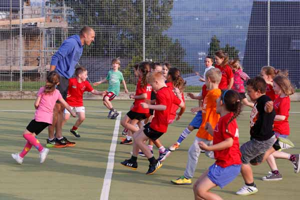 TOP TIPS: Dai Greene helped train the youngsters