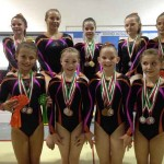 Members of Valleys Gymnastics Association with their medals