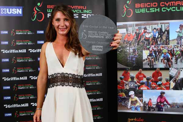 HONOURED: Manon Carpenter was named Elite Cyclist of the Year