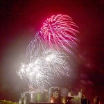 AWESOME: The firework display over Caerphilly Castle last year