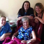 HOSTESS: Margery Davies celebrated her 101st birthday