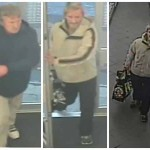 Gwent Police would like to speak to the men on the left in connection with shoplifting, while they would like to speak to the man on the right in connection with a fuel theft