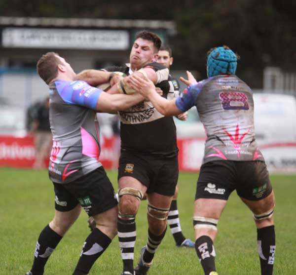 Dan Crimmins on the charge for Bedwas