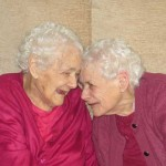 Twins Glenys Thomas and Florence Davies - The UK's oldest twins after celebrating their 103rd birthday together