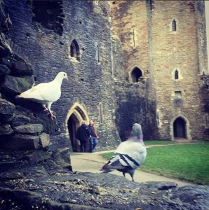 Sutter posted this picture of Caerphilly Castle on his Instagram
