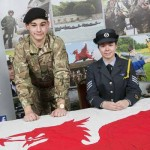 ATTENTION: Cadet Sergeant Ryan Davies with Cadet Flight Sergeant Eleanor Kingston