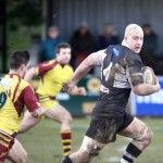 TRY FEST: Phil Rees breaks for Bedwas
