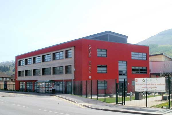 Coleg Gwent's Crosskeys campus. Picture by Jaggery