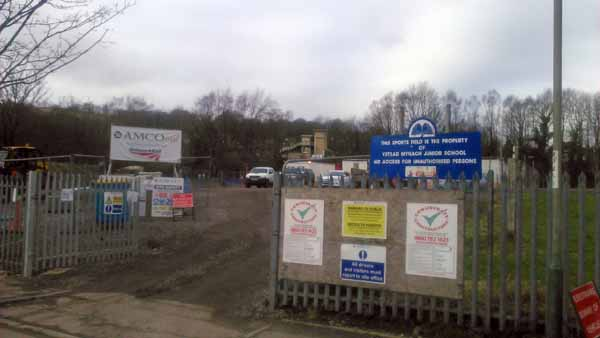 BUILDING SITE: The field was used as work access for improvements at Ystrad Mynach station