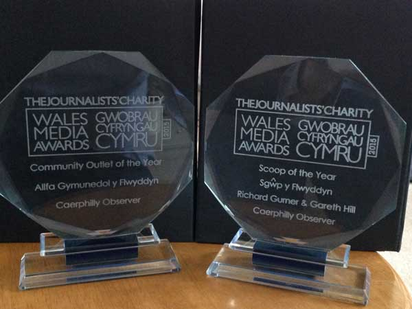 Caerphilly Observer was a double winner in the Wales Media Awards 2015