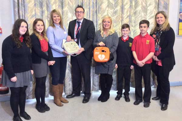 St Martins School >> Caerphilly S St Martin S School Presented With Defibrillator