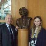 Caerphilly MP Wayne David with Molly Turececk from Bedwas