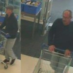 Two men entered Tesco Risca and stole a trolley full of shopping