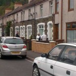 Police at the house in Church Street, Llanbradach