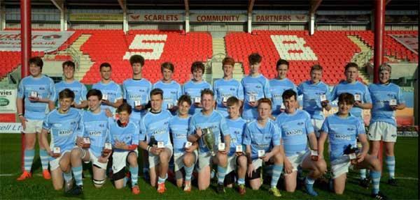 CHAMPIONS: The winning Islwyn Schools squad