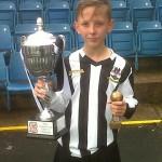 PROUD: Ellis Rhys Paterson, Captain of Risca United Academy