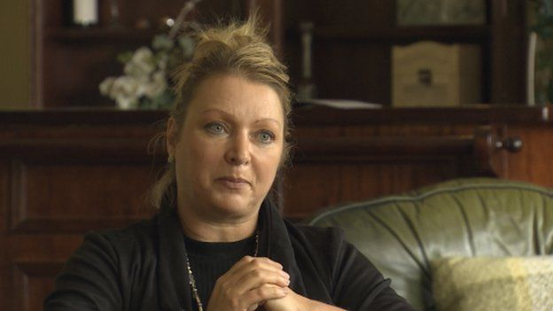 Sirhowy Arms owner Mandy Miles. Picture: BBC