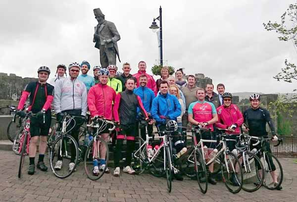 ON YOUR BIKE: Caerphilly Cycling Club ride three times a week from the Twyn