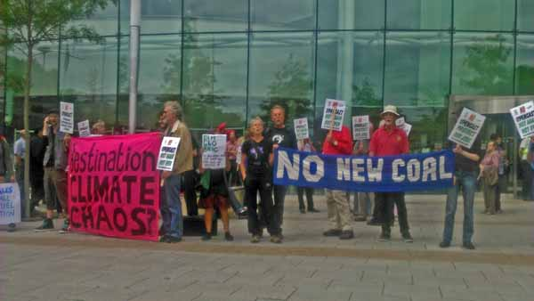 VICTORY: Campaigners celebrated after councillors called for a case to refuse plans