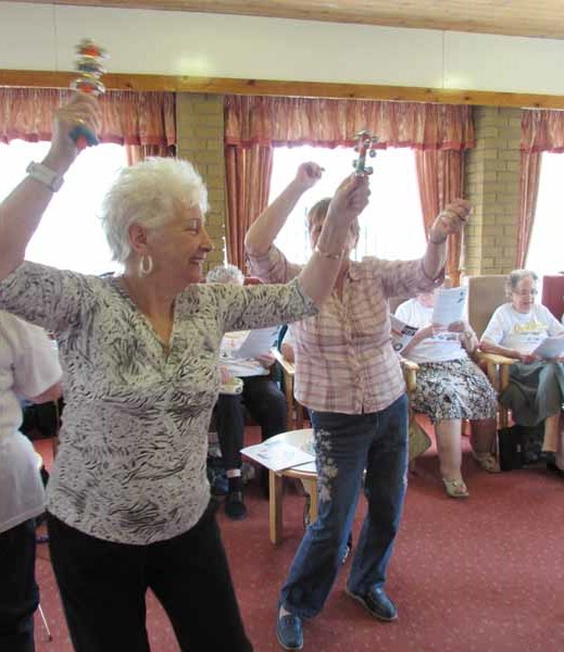 Sheltered housing tenants enjoying the occasion at the Maesteg complex in Pentwynmawr recently