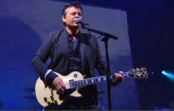 MANIC: James Dean Bradfield performs at Cardiff Castle. picture from BBC