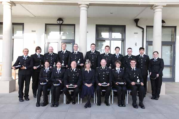 Gwent Police's new Special Constables with Lady Diana Hayman-Joyce JP (front row centre), Deputy Chief Constable Craig Guildford (front row right) and Special Constabulary Chief Officer Richard Jones (front row left)