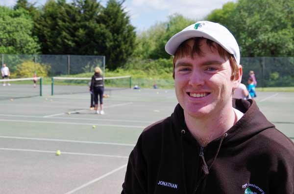 PRAISED: Caerphilly Tennis club coach Jonathan Morgan